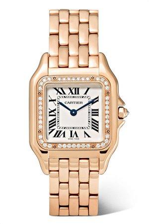 Cartier | Panthère de Cartier medium 27mm 18-karat pink gold and diamond watch | NET-A-PORTER.COM