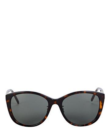 Saint Laurent Oversized Cat Eye Sunglasses | INTERMIX®