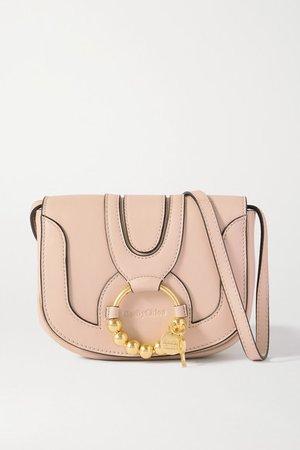 Hana Mini Embellished Leather Shoulder Bag - Beige