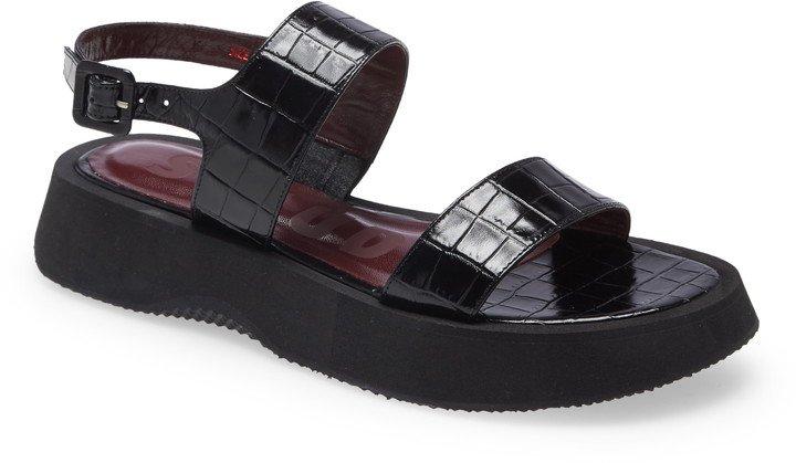 Nicky Croc Embossed Platform Sandal