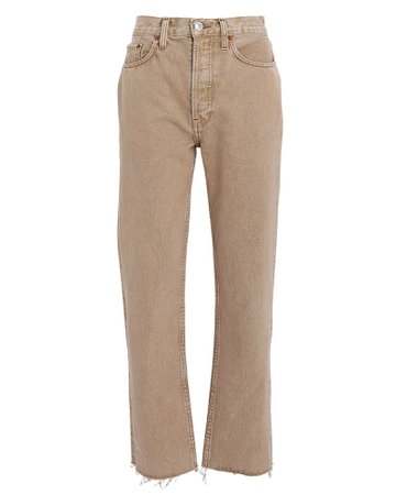 RE/DONE 70s High-Rise Stove Pipe Jeans | INTERMIX®