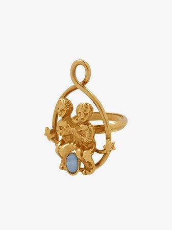 Gemini zodiac ring
