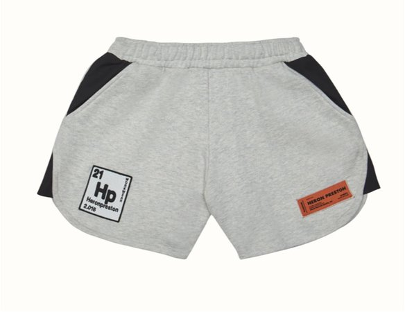 heron preston periodic jogging shorts