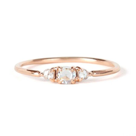 Catbird, Sleeping Beauty Ring, Rose Gold