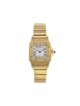 Cartier 1990 pre-owned Cartier Galbée 23mm white & gold 371060 - Farfetch