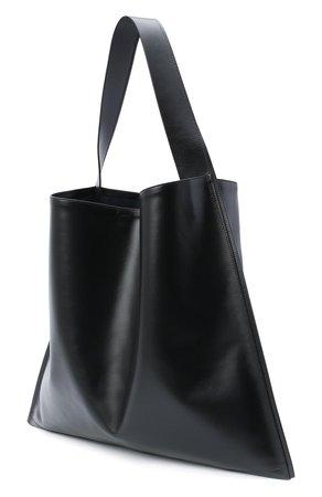 Женская черная сумка-шопер border JIL SANDER — купить за 82300 руб. в интернет-магазине ЦУМ, арт. JSPR852397-WRB00016