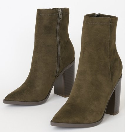 olive green booties