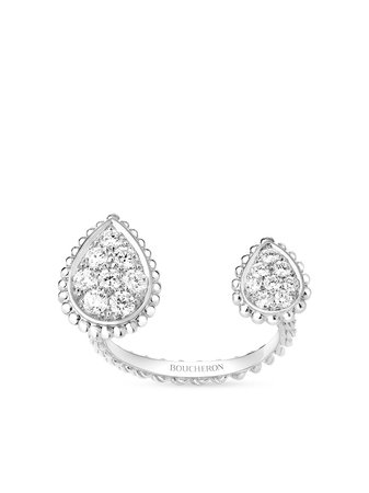 Boucheron Bague Serpent Bohème En Or Blanc 18ct Ornée De Diamants - Farfetch