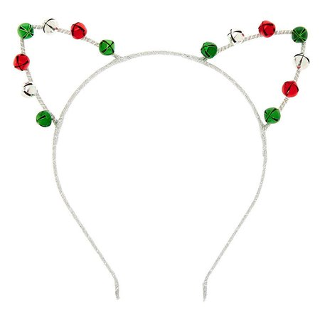 Silver Bells Cat Ears Headband | Claire's US