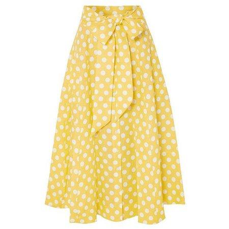 yellow polka dot skirt