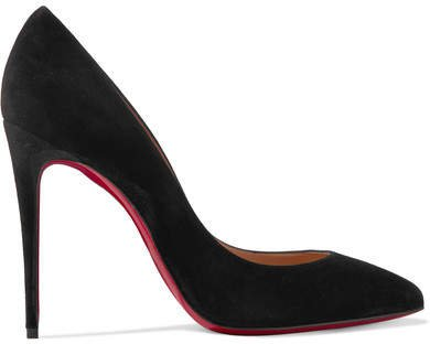 Pigalle Follies 100 Suede Pumps - Black