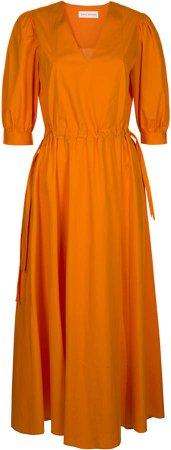 Mykke Hofmann Korva Drawstring-Detailed Cotton Poplin Maxi Dress