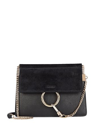 Mini Faye Leather Crossbody Bag