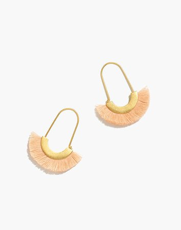 Arc Wire Fringe Earrings gold