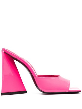 Shop pink The Attico chunky heel sandals with Express Delivery - Farfetch