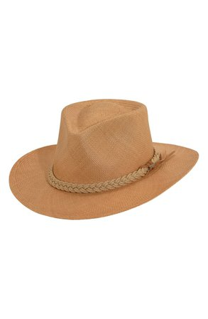 Scala Panama Straw Outback Hat   Nordstrom