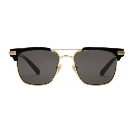 Square-frame metal sunglasses - Gucci Men's Square & Rectangle 504329I03301811