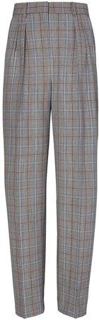 Plaid Wool Trouser
