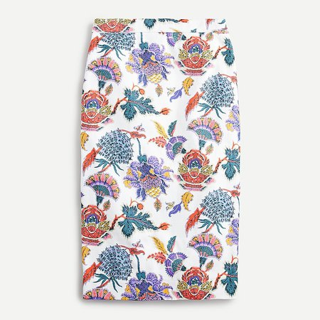 J.Crew: Pencil Skirt In Paisley Floral For Women