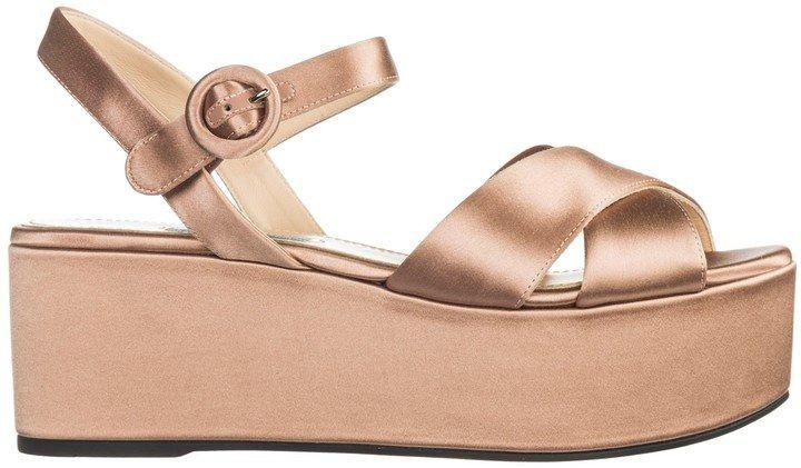 Platform Crossover Strap Sandals