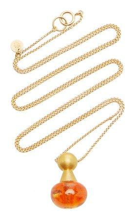 Buoy 22k Yellow Gold Garnet Necklace By Mallary Marks | Moda Operandi