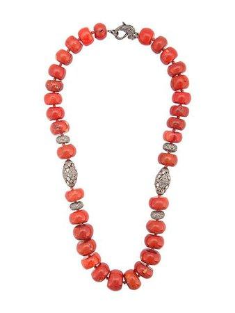 Loree Rodkin coral Maharajah beaded necklace