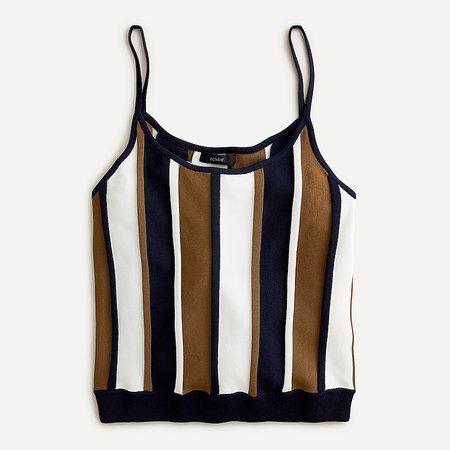 J.Crew: Cropped Knit Tank In Stripe For Women