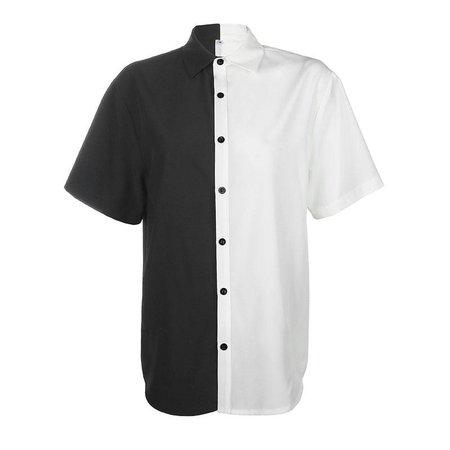 half black half white