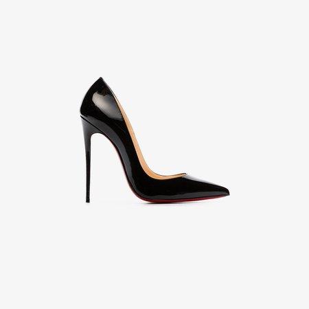 Black So Kate 120 patent leather pumps