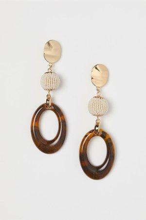Long Earrings - Gold-colored/brown - Ladies | H&M US