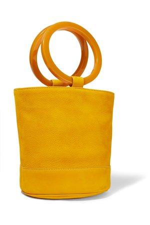Marigold Bonsai 20 nubuck bucket bag   SIMON MILLER   NET-A-PORTER