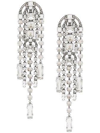 Lanvin Crystal Embellished Drop Earrings - Farfetch