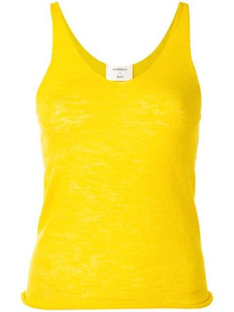 Onefifteen fine knit tank top yellow CA0062A - Farfetch