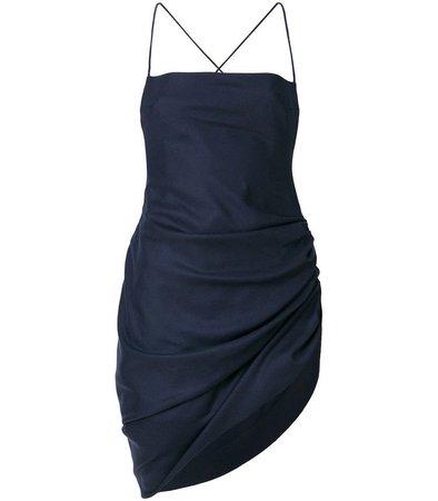 JACQUEMUS La Robe Saudade Longue Dress In Navy