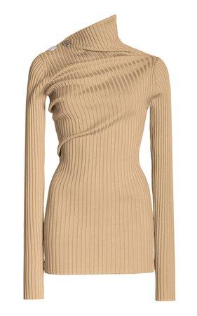 Ribbed Twist-Detail Knit Top By Proenza Schouler   Moda Operandi