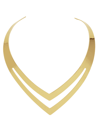 Double V Gold Collar Choker