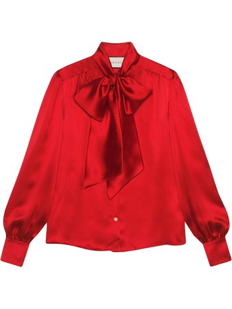 Gucci pussy-bow neck blouse £1,224 - Shop Online - Fast Delivery, Free Returns