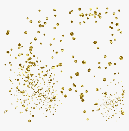Gold Glitter Confetti Png - Transparent Glitter Confetti Png, Png Download - kindpng