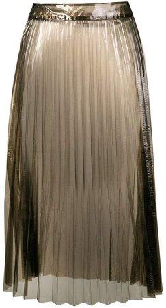 Ssheena sheer pleated skirt