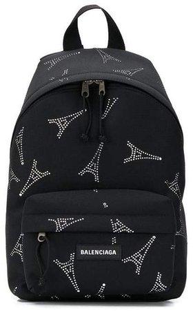 Explorer crystal-embellished backpack