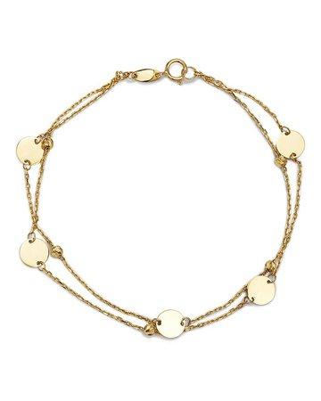 Moon & Meadow Layered Disc & Bead Bracelet in 14K Yellow Gold - 100% Exclusive | Bloomingdale's