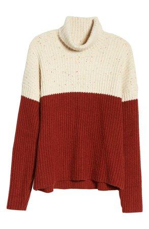 Chelsea28 Colorblock Turtleneck Sweater   Nordstrom