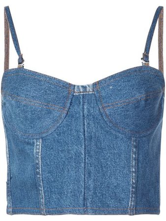 Re/Done faded denim tank top $295 - Buy SS19 Online - Fast Global Delivery, Price