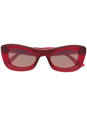 Bottega Veneta Eyewear Transparent rectangle-frame Sunglasses - Farfetch