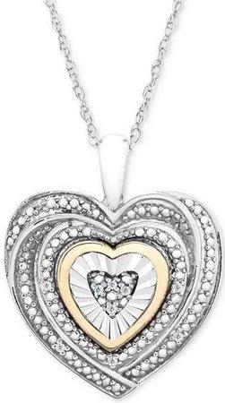 silver&gold heart