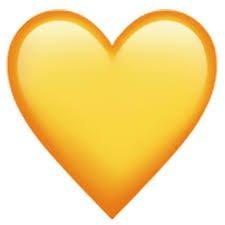 yellow heart emoji png - Google Search