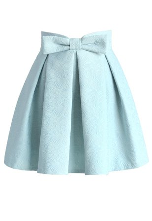 Sweet Your Heart Jacquard Skirt in Pastel Blue - Retro, Indie and Unique Fashion