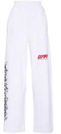 off white motif track pants