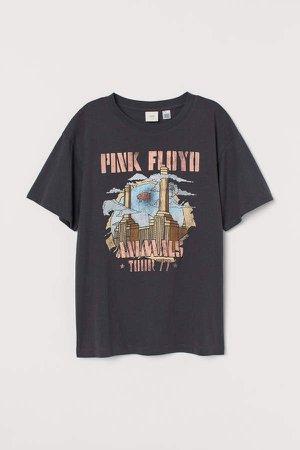 Printed T-shirt - Gray