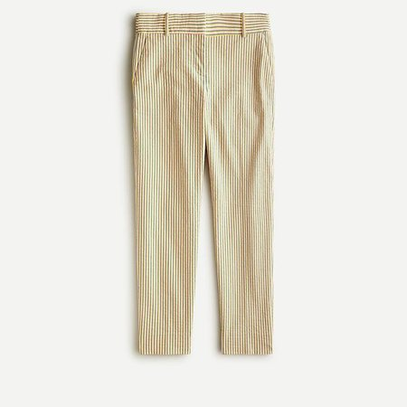 J.Crew: Petite Cameron Slim Crop Pant In Stretch Seersucker For Women